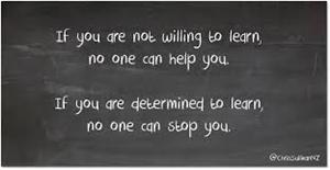 If you are not willing to learn no one can help you.