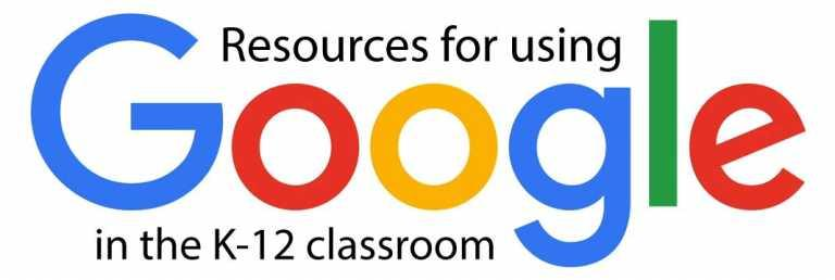 Image: Resources for using Google in the K-12 classroom