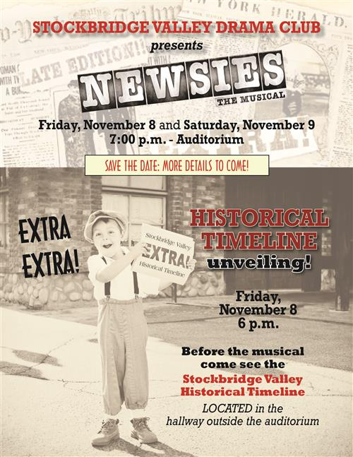 Save the Date! Newsies Musical and Historical Timeline Unveiling